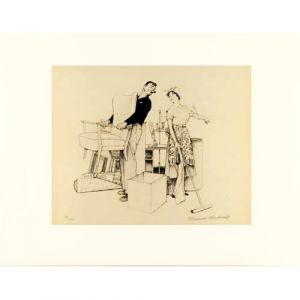 Settling In / Moving Furniture Signed Artist Proof