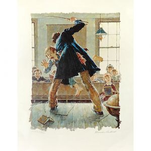 Tom Sawyer, The Caning (Color) 26x20 Artist Proof