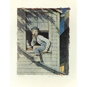 Tom Sawyer, Sneaking Out (Color) 26x20 Artist Proof