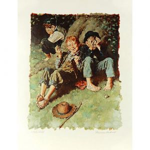 Tom Sawyer, First Smoke (Color) 26x20 Artist Proof