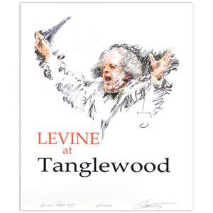 Sol Schwartz: Levine at Tanglewood Signed Print