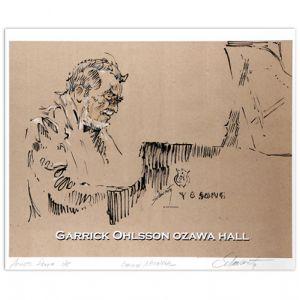 Sol Schwartz: Garrick Ohlsson Ozawa Hall Signed Print