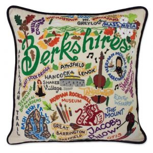 Hand Embroidered Berkshires Pillow