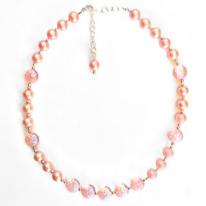 Pink Vintage Pearl Necklace