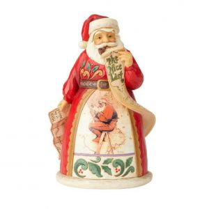 Santa at Map Inspired Figurine by Jim Shore