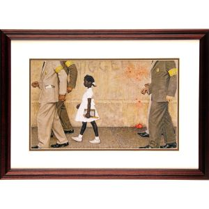 Problem We All Live With 20 x 14.5 Framed Offset Print