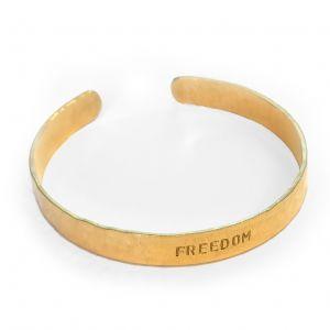 Freedom Brass Cuff Bracelet