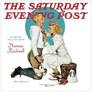 Norman Rockwell 2022 Saturday Evening Post 16-Month Small Wall Calendar