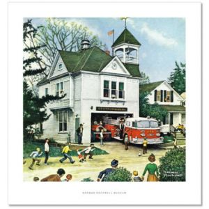 The New American LaFrance is Here (Firehouse) Custom Giclee Print