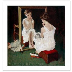Girl at the Mirror Custom Giclee Print