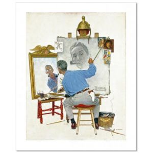 Triple Self Portrait Custom Giclee Print