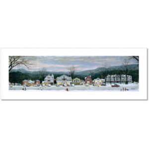 Stockbridge Main Street at Christmas Custom Giclee Print