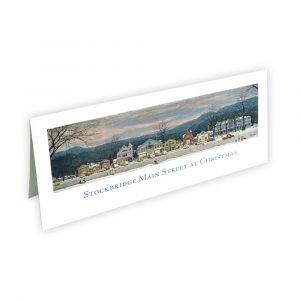 Stockbridge Main Street at Christmas Note Card
