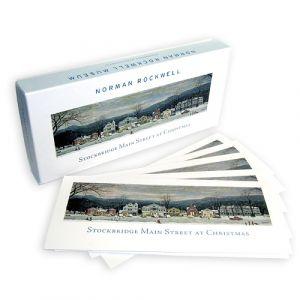 Box of 20 Stockbridge Main Street at Christmas Note Cards