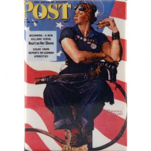 Rosie the Riveter Magnet 2x3in