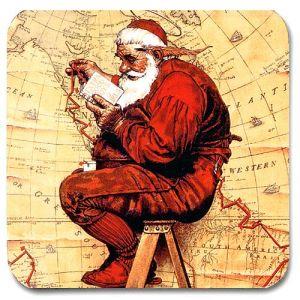 Santa at the Map Coaster (Extra Good Boys and Girls)
