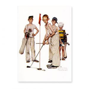 Sporting Boys Golf Postcard