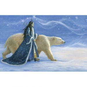 Ruth Sanderson: Snow Princess & Polar Bear Signed Print