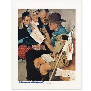 A Scout Is Friendly Signed Print
