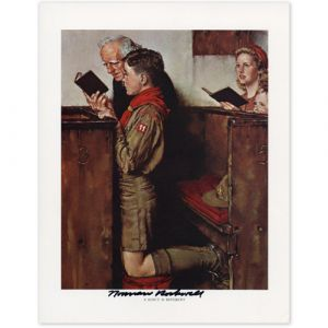 A Scout Is Reverent (1939) Signed Print