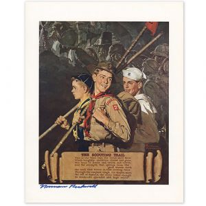 The Scouting Trail Signed Print