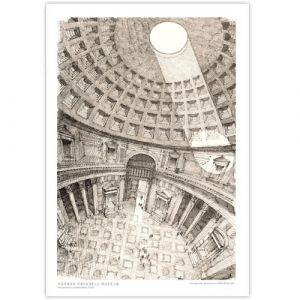 David Macaulay: Pantheon Signed Print