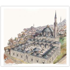 David Macaulay: Mosque Signed Print