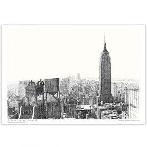 David Macaulay: City View Signed Print