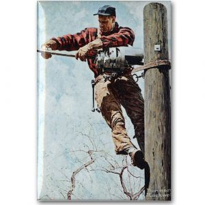 Lineman Magnet 2x3in