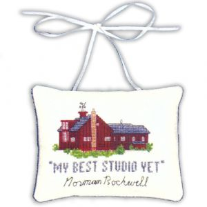 Norman Rockwell Studio Counted Cross Stitch Ornament Kit